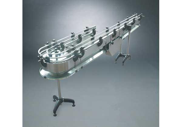 Convoyeur chaine bande rouleaux table poumon courbe for Table en chaine