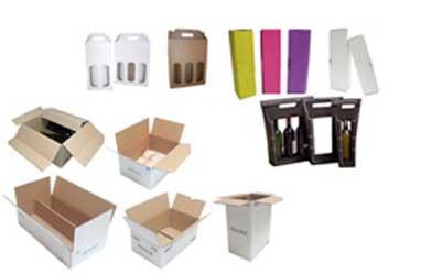Emballages cartons bouteilles