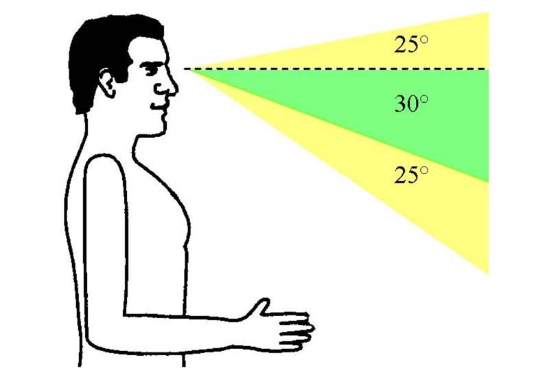 Ergonomie hauteur vision