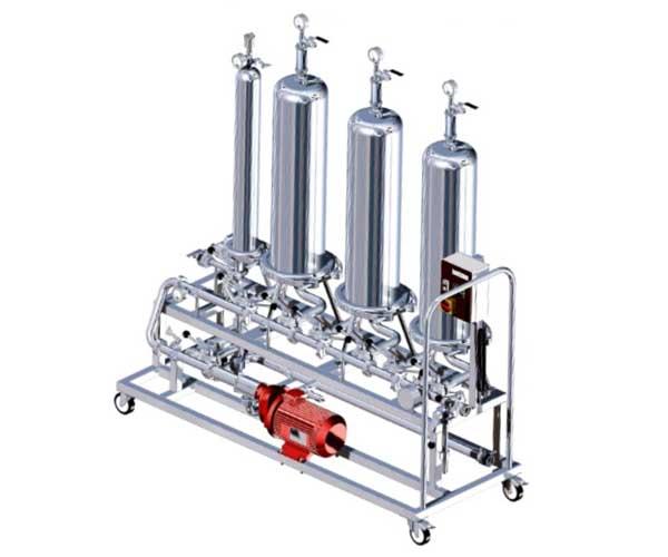 Palette micro-filtration manuelle
